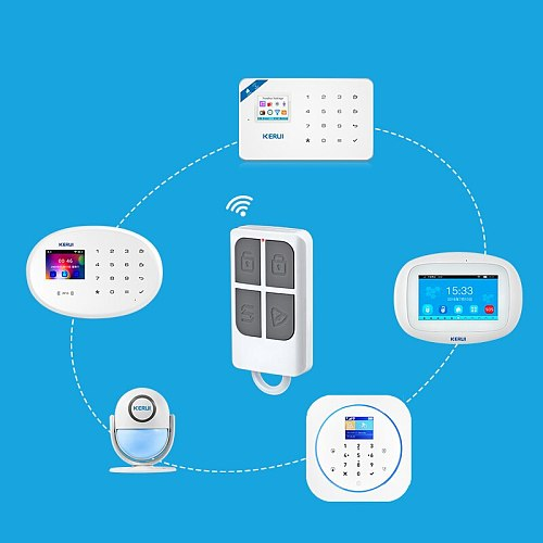 Wireless Remote Control Key Sensor Keychain For Touch Keypad Panel GSM PSTN WIFI 2G 3G Home Security Burglar Alarm System