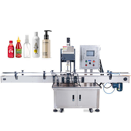 ZONESUN ZS-VTCM1 Pneumatic Automatic Spray Dropper Plastic Glass Bottle Ex-proof Capping Machine E-juice Jar Cap Screwer
