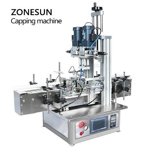 ZONESUN Automatic Pneumatic Bottle Capping Machines Plastic Bottle Glass Screw Perfume Pet  Ropp Pump Vial Desktop Screw