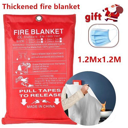 1.2M x 1.2M fireproof blanket, glass fiber fireproof, flame retardant, emergency survival shelter, fireproof emergency blanket