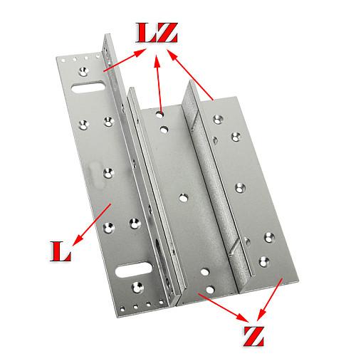 180/280/350/500kg Z&L Bracket Magnetic Electromagnetic Lock LZ 350lbs Inward door with wooden metal door Access Control System