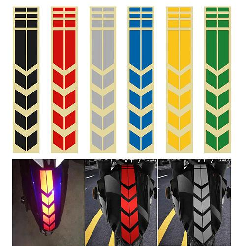 2pcs Moto Stickers and Decals On Bike Bicycle Fender Motorcycle Accessories Motorcycle Reflective Sticker Decoration Road Safety