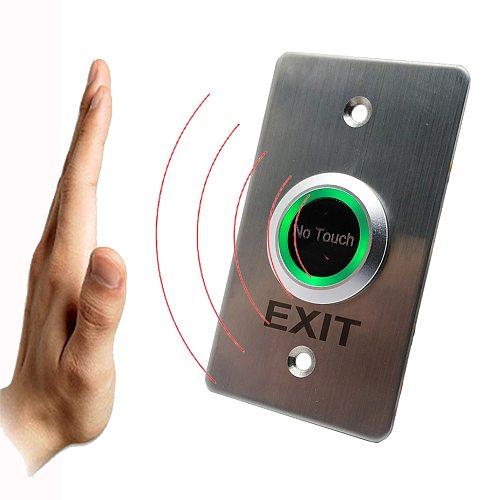 2021 New Touchless Door Access Control Release Switch IR Contactless No Touch Infrared Exit Button