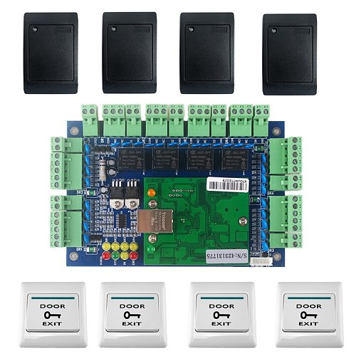 WAN Access Control Board Access Card Reader EM-ID Control Board via TCP/IP 4 Door Access Multi door Access Control Panel