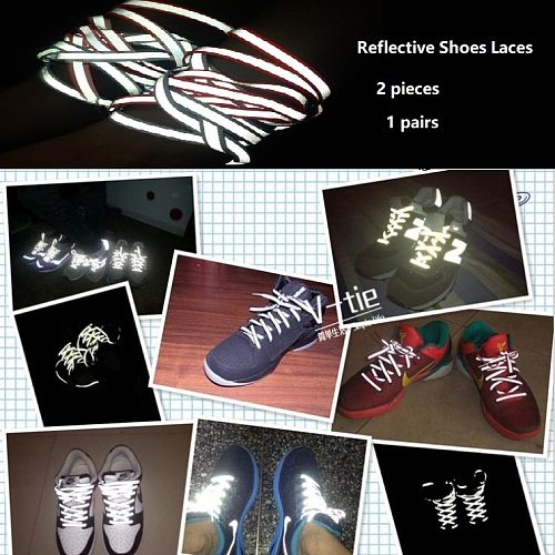 Reflective Shoelace Tape Of Popular Casual Hiker Shoes Reflective Safety Warning Strip