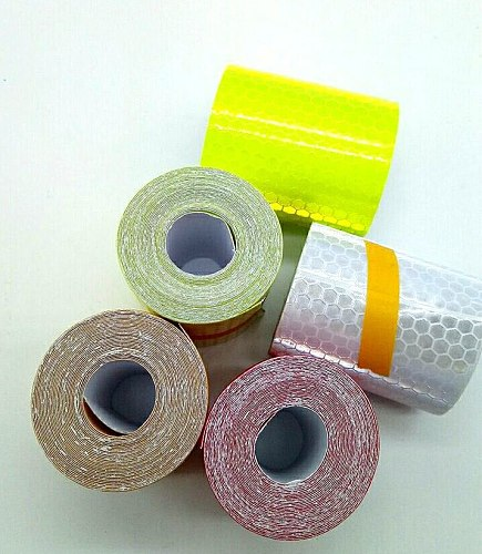 5cm*3m Silver White Reflective Safety Warning Jackets Tape honeycomb Environmental film Material Traffic safety