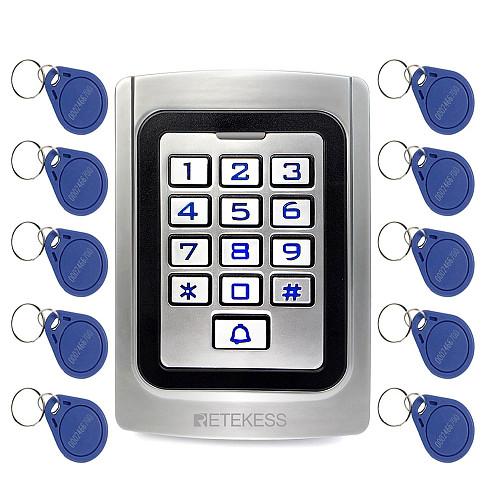 RETEKESS T-AC04 Keypad Door Access Control system IP68 Waterproof  Metal case Silicon Security Entry Door Reader RFID 125Khz EM