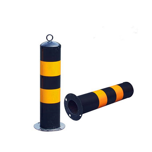 Safety steel road safety bollard flexible steel bollards road traffic bollard Night reflection 500mm type
