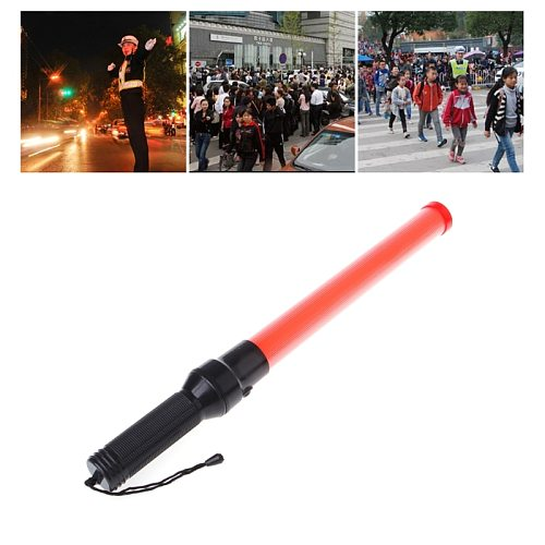 Plastic Traffic Wand  Powerful LED Flashlight Torch 3 Modes Strobe Setting Drop Shipping Support