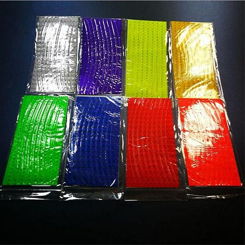 1 pcs 21cm x 8cm Bike Reflective Stickers Cycling Fluorescent Reflective Tape Bicycle Adhesive Tape Safety Sticker Accessories