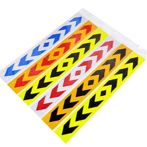 2 2 Pcs Reflective Safety Warning Signs Tape PP Stickers Strong Adhesive Waterproof High Visibility For Truck Car Motorcycles