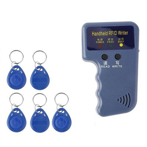 RFID Card Reader Copier Writer Duplicator Programmer Rewritable ID Keyfob Tags Handheld 125Khz Copier