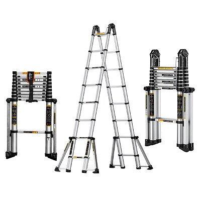3.3m+3.3m aluminum alloy telescopic ladder herringbone ladder project straight ladder folding ladder eight foot ladder anti-tip