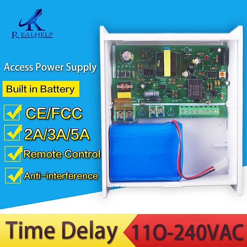 Built in Back Up Battery Power Supplies for RFID Keypad Access Anti-interference with Overload and Short-circuit Protection