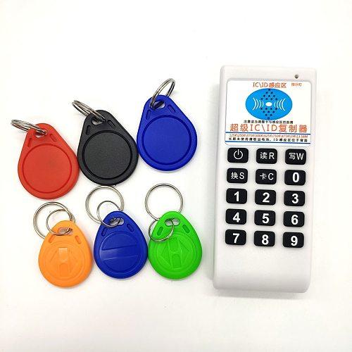 Handheld 125Khz 13.56MHZ RFID Card Tag Copier Duplicator Cloner Reader Writer Sales Package or 20pcs 125KHz T5577 Keys or 20pcs
