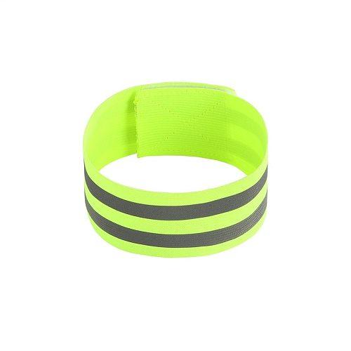 1Pc Cycling Reflective Strips Warning Armband Reflector Wristband Bicycle Bind Strap Pants Hand Leg Sport Tape