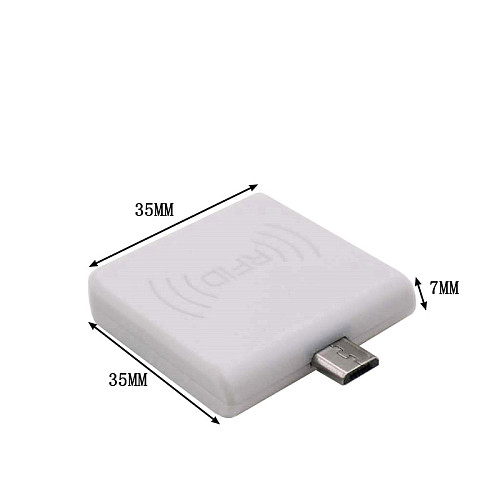 ISO14443A HF 13.56MHz IC Card Detector Micro USB or Type C OTG Power Supply Mini Ultra-Small Portable RFID Reader