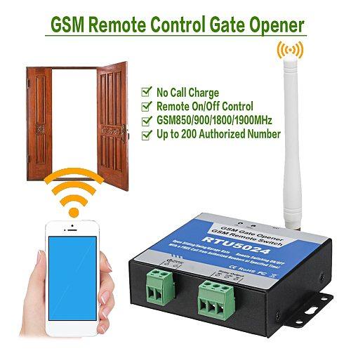 RTU5024 GSM Gate Opener Relay Remote Control Door Access Switch Wireless Door Opener Free Call 850/900/1800/1900MHz