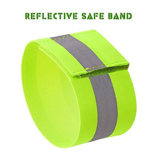 Reflective Band Strap Wrist Leg Ankle Safe Fluorescent Green Warning Belt Grow in Dark Night Running Cycling Jogging Wristband