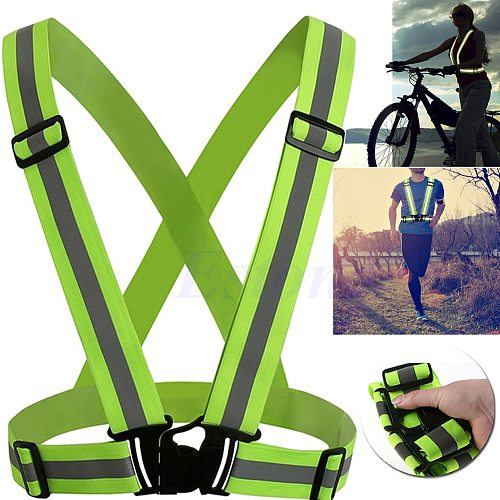 Adjustable Safety Security High Visibility Reflective Vest Gear Stripes Jacket Drop Shipping Support