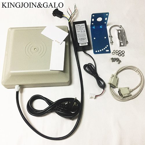 RFID Integrative Long Range UHF Card Reader 0- 6m Detector Distance With 8dbi Antenna RS232/RS485/Wiegand Interface Optional