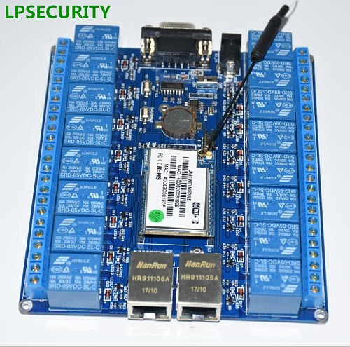 smart home automation things of internet RS232 RJ45 port wifi relay module board 16 channel or 2ch relays p2p wifi antenna