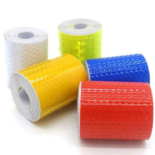 1 Roll 5cm*3m Car Reflective Tape Sticker Safety Mark Car Self Adhesive Warning Tape Motorcycle Bicycle Tool