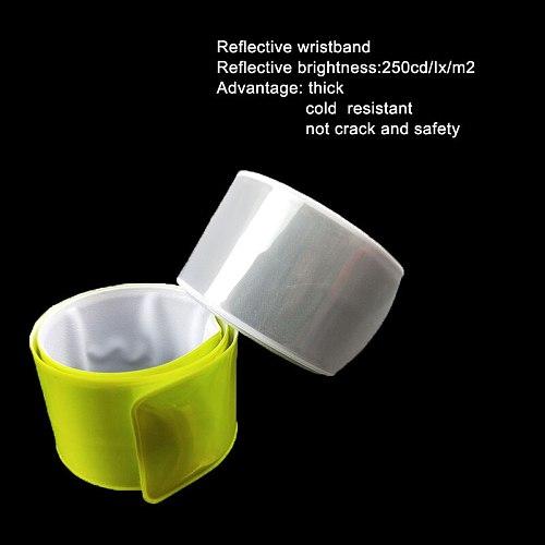 38CM MEILITE 250 candle lights reflective Wristband slap band bracelets armband Strips Warning Bike Safety Bicycle Bind Pants