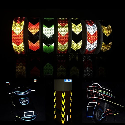 Waterproof Safety Reflective Stickers Strip Decal Tape For Car
