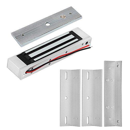 12V Electromagnetic Locks 180KG/350lbs Electric Magnetic Lock ZL U Bracket for Electronic Door Access Control System Waterproof