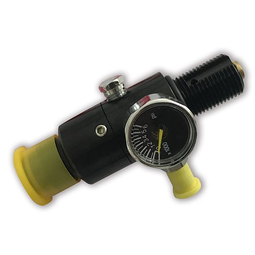 AC961 Pcp Regulator M18*1.5 Black 850psi Output High Pressure Cylinder Pcp Tank Gauge Valve Acecare