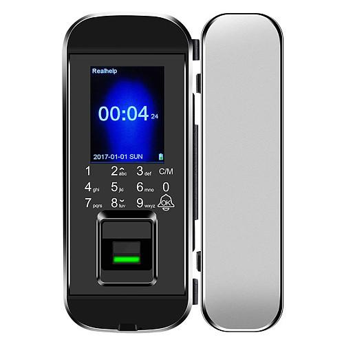 2000Users Office glass door fingerprint lock single door double door fingerprint password card access control lock