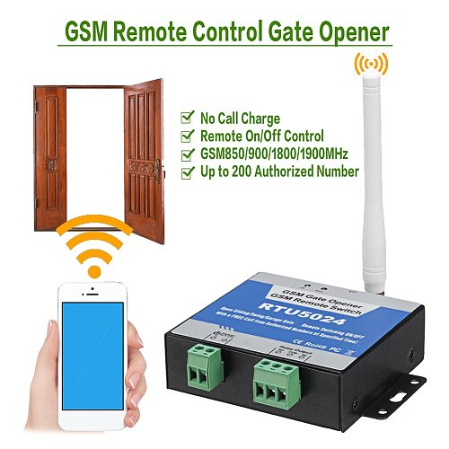 RTU5024 GSM Gate Opener Relay Switch Remote Control Door Access Wireless Door Opener Free Call 850/900/1800/1900MHz