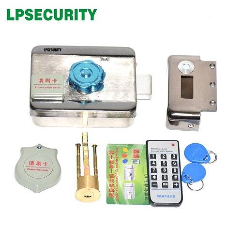 Wi-Fi wifi optional Door gate lock castle Access Control Electronic integrated RFID Door Rim lock RFID reader for intercom
