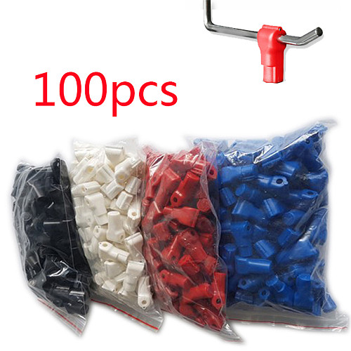 100 pcs/Bag EAS Security Euroslot hook stop lock hook anti theft Euro tags of retailfor Magnetic Lockpick for various Retail