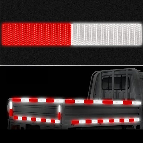 width 50mm Reflective Tape Safety Caution Warning Reflective Adhesive Tape Sticker For Truck Motorcycle Bicycle Car Styling