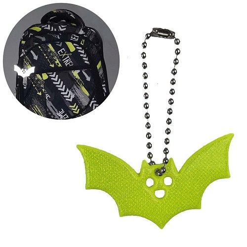 Halloween bat style  Reflective Safety Warning Pendant Light Reflection Keychain Night Riding Walking Bike Gift