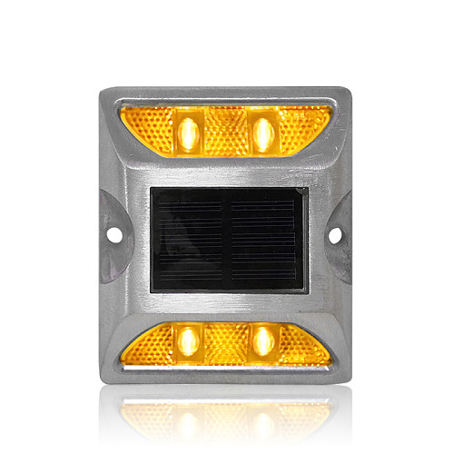 Hot selling aluminum housing waterproof solar road stud with yellow LED light 3M reflector road marker