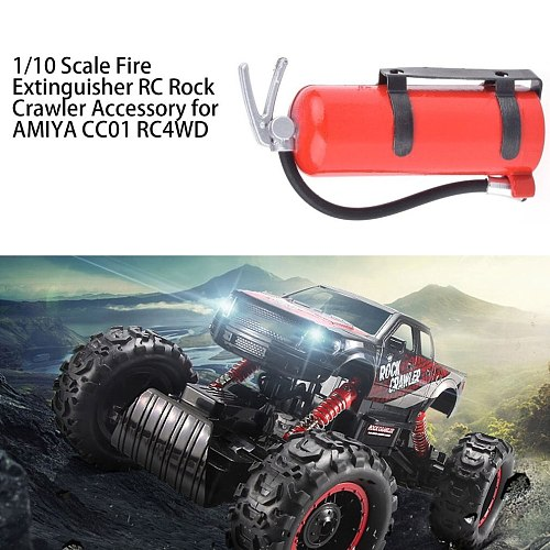 1/10 Scale Fire Extinguisher Simulation RC Rock Crawler Accessory for AMIYA CC01 RC4WD Mini Fire Extinguisher Toy