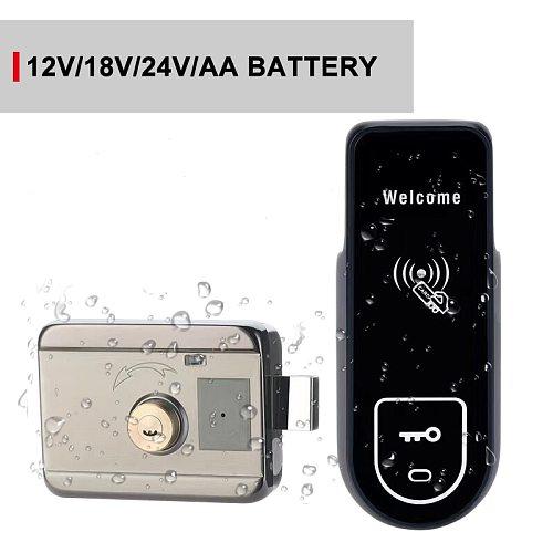 IP65 Waterproof Swipe Card Lock Automatic Door Lock Key Card Door Lock Front Door Lock For Apartment Residential