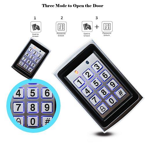 RFID Metal Access Control Keypad Waterproof Rainproof Cover Outdoor Door Opener Electronic Lock System Cover EM4100 Keychains