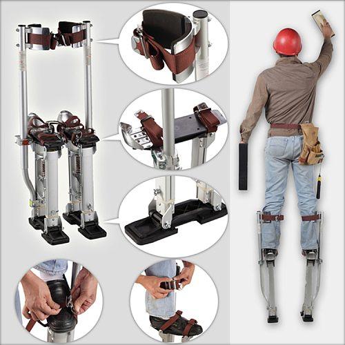New  24-40  adjustable professional aluminum plastering stilt ladder gypsum board gypsum stilt stage props indoor foot ladder