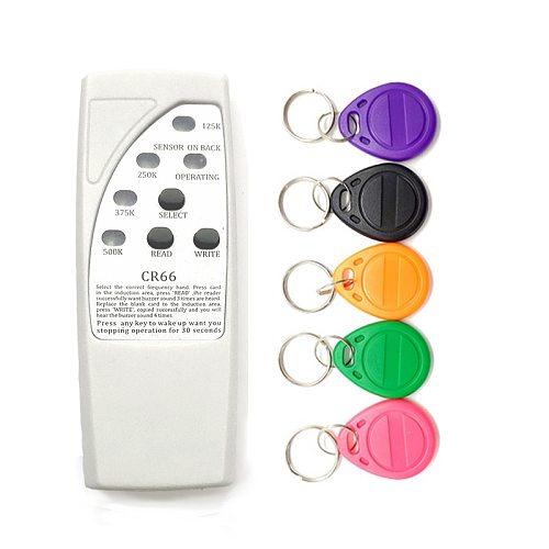 Handheld RFID Card Reader Writer 125KHz Copier Cloner Duplicator ID Tags   EM4305 T5577 RFID Tag Key Card Keyfob