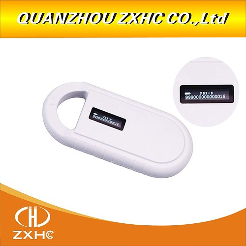 Portable OLED Display RFID ISO11784/11785 134.2Khz FDX-B Microchip Reader Scanner for Dog/Cat