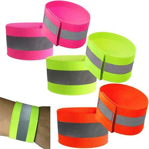 Reflective Hand Band Practical High-quality Night Run Wristband Belt Safety Reflector Tape For Riding Walking Biking
