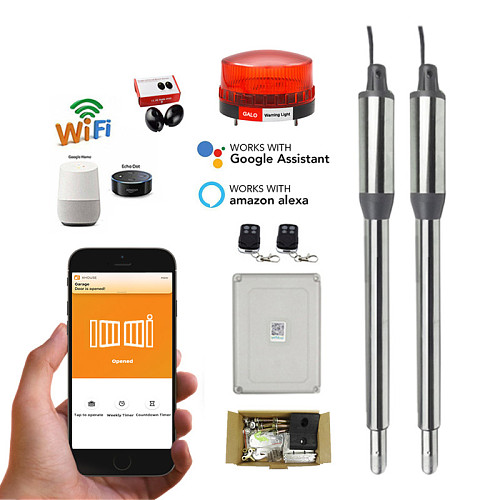 Newest Wifi Control AC220V Electric Linear Actuator 300kgs Engine Motor System Automatic Swing Gate Opener