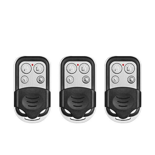 Wireless GSM Alarm System 433MHz Alarm Remote Control Metal Alarm Keychain Remote Controller Working For K52/W20 Alarm Systems