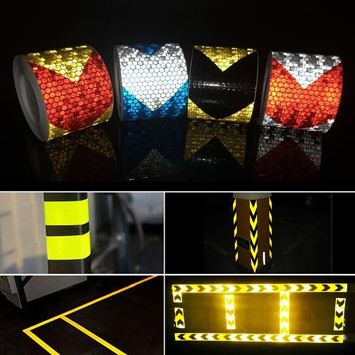 5cmx3m/Roll Reflective Stickers For Car Motorcycle Safety Warning Tape