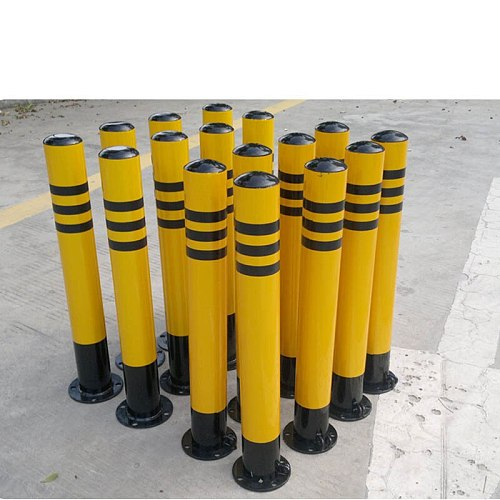 Road Construction Equipment, Steel Round Pipe Active Traffic Pile / Post With Spiral Bottom