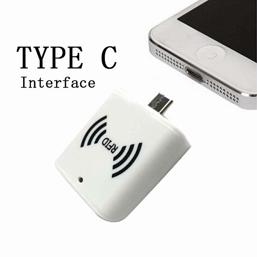 13.56mhz ISO14443A HF tiny size  RFID OTG Android phone USB Type-c interface portable Handheld IC card reader